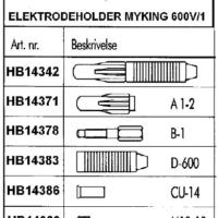 MYKING ELEKTRODEHOLDERE