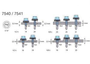 TOPEX-PISTA PLATESKRUE SS 7540/7541