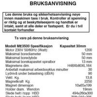 ME7500 BRUKSANVISNING