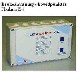 BRUKSANVISNING FLOALARM K4